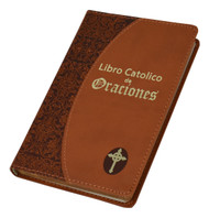 Brown - Libro Catolico de Oraciones contains many favorite prayers for every day, to the Blessed Trinity, to Mary, and to the Saints. Este libro contiene muchas oraciones favoritas para todos los dias, a la bendita Trinidad, la sagrada Virgen Maria y todos los Santos. Presenta una cubierta de cuero de imitación burdeos, verde, marrón y lavanda y bordes dorados.  Tamaño: 4 X 6 1/4. Páginas: 256