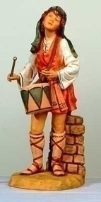 "Fontanini 27""H Jareth, Village Drummer Boy. Marble Based Resin. Measures: 25""H x 10""W x 11""D/27"" Scale"