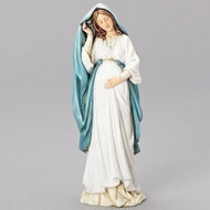 """Pregnant Mary figure. This 6.75"""" Pregnant Mary figure is made of resin/stone mix."""