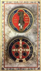 """Clear, laminated Italian holy cards with Gold Accents. Features World Famous Fratelli-Bonella Artwork. 2.5"""" x 4.5"""""""