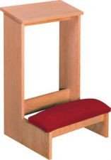 "Prie Dieu with Padded kneeler  Finished or unfinished  Dimensions: 30"" height, 19"" width, 9"" depth"
