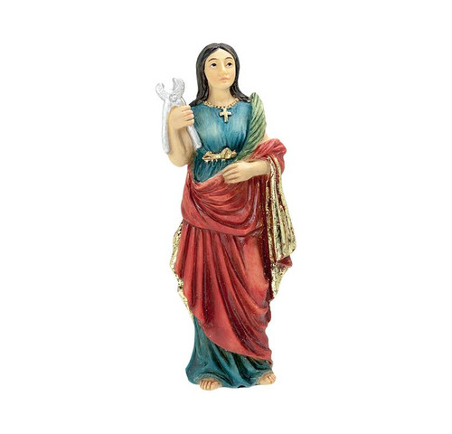 """This 4"""" statue is finely detailed and expertly sculpted by St. St. Agatha, Patron Saint of Breast Cancer."""
