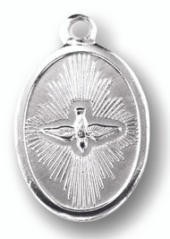 Holy Spirit Silver Oxidized Medal