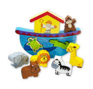 Adorable 10 piece wooden block set of Noah, his ark and the animals. A great way to tell your young child this bible story.
