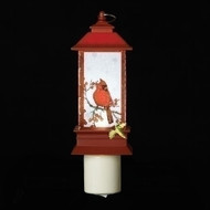 "6.2""H Cardinal Lantern Night Light. Cardinal Lantern Night Light dimensions are: 6.25""H 2.25""W 3.25""D. Cardinal Lantern Night Light is made of plastic."