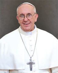 """Pope Francis Formal Print.  This formal print of Pope Francis comes unframed. the formal print of Pope Francis measures 11"""" x 14""""."""