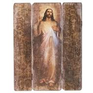 "26""H Divine Mercy Decorative Panel. The Divine Mercy Decorative Panel is made of medium density fiberboard."