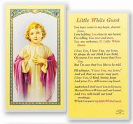 Little White Guest-Christ Clear, laminated Italian holy cards with gold accents. Features World Famous Fratelli-Bonella Artwork. 2.5'' X 4.5''