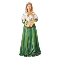 "6"" St. Dymphna Statue. St Dymphna statue is made of a resin stone mix. she is the patron saint of mental illness and  depression."
