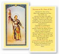 St. Joan of Arc was canonized as a saint on May 16, 1920, and is the patron saint of France. Clear, laminated Italian holy cards with Gold Accents. Features World Famous Fratelli-Bonella Artwork. 2.5'' x 4.5''