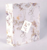 """""""God Bless You on Your Special Day"""" Gift Bag.  Small Gift Bag dimensions: 6.5"""" x 5.5"""".  Medium Bag measures 8.5"""" x 7."""" x 4.75"""";"""