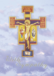 AUGUSTINIAN CROSS SYMPATHY CARD Suggested donation: $10.00 Size: 5x7 This Mass card features the Augustinian Cross of Jesus and adds a prayer on the inside with Augustine's thoughts on death.