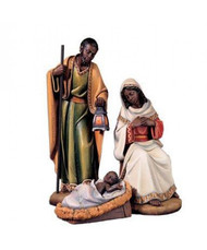 """ADUA - African American Holy Family Nativity 1955, 24"""" Additional pieces sold separately"""