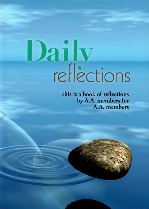"""This is a book of reflections by A.A. members for A.A. members. It was first published in 1990 to fulfill a long-felt need within the Fellowship for a collection of reflections that moves through the calendar year-one day at a time. Each page contains a reflection on a quotation from A.A. Conference-approved literature, such as Alcoholics Anonymous, Twelve Steps and Twelve Traditions, As Bill Sees It and other books. These reflections were submitted by members of the A.A. Fellowship who were not professional writers, nor did they speak for A.A. but only for themselves, from their own experiences in sobriety. Thus the book offers sharing, day by day, from a broad cross section of members, which focuses on the Three Legacies of Alcoholics Anonymous: Recovery, Unity and Service. Daily Reflections has proved to be a popular book that aids individuals in their practice of daily meditation and provides inspiration to group discussions even as it presents an introduction for some to A.A. literature as a whole.  Product Size: 4"""" x 6"""" x 1"""" 
