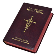 "St Joseph Sunday Missal. The St Joseph Sunday Missal is the Complete Edition in Accordance with the Roman Missal. St Joseph Sunday Missal has a red flexible cover. The missal measures 4 1/4"" X 6 1/4"" and has 1600 pages"