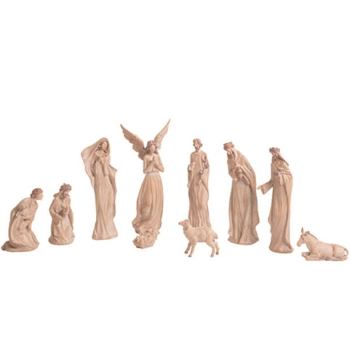 """Beautiful Elegant Old World Style Nativity. Old World Style Nativity consists of 10 pieces. Dimensions:  3.00"""" L x 2.00"""" W x10.00"""" H. Old World Nativity is made of resin. A beautiful addition to any nativity collection or starter set!"""