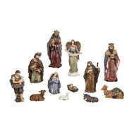 "Beautiful ornate 12 piece Nativty. This ornate nativity consists of 12 pieces. Dimensions:  5.00"" L x 3.25"" W x10.00"" H. The ornate nativity set is made of resin. A beautiful addition to any nativity collection or starter set!"