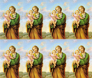 "St Joseph 8-UP Microperforated Holy Cards.  St Joseph Holy Card can be either laminated or paper.  Sheet measures 8.5"" x 10"". Individual cards measure 2.5"" X 4"". 8 cards per sheet. Blank back to add your personalized inscription. Can be laminated for an additional cost."