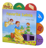 "Favorite Saints by popular author Rev. Thomas J. Donaghy,  is a short board book that introduces young children to the wonderful world of Saints. The tabs help children pick out elements in each of the spreads, making reading this book an interactive experience. Favorite Saints contains bright, vibrant, and playful contemporary illustrations that will make this book an enjoyable learning experience for young Catholic children. Details:  9 1/2"" X 9 1/2"" ~ Full Color Board Book ~ 12 pages"