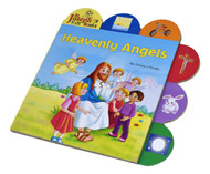 "Heavenly Angels by popular author Rev. Thomas J. Donaghy,  is a short board book that introduces young children to the wonderful world of Angels. The tabs help children pick out elements in each of the spreads, making reading this book an interactive experience. Heavenly Angels contains bright, vivid, and playful contemporary illustrations that will make this book an enjoyable learning experience for young Catholic children. Details:  9 1/2"" X 9 1/2"" ~ Full Color Board Book ~ 12 pages"