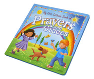 "This is a delightfully illustrated collection of both traditional and new prayers and graces.  Ideal for young Catholic children, this book includes prayers and graces for all times of the day: mealtimes, school time, --any time!  Great gift for boys or girls.  Illustrations bounce off the pages with vibrant color and unabashed joy, this book will enchant little ones with each turn of the page.  Details:  8 1/4"" X 8 1/4"" Padded Cover ~ 10 pages."