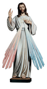 Divine Mercy Statue. Beautiful statue from Demetz in Italy. The Divine Mercy Statue is vailable in Fiberglass in 36″, 48″ and 60″. Also available in fiberglass color for indoors. Call for other outdoor finishes and for pricing