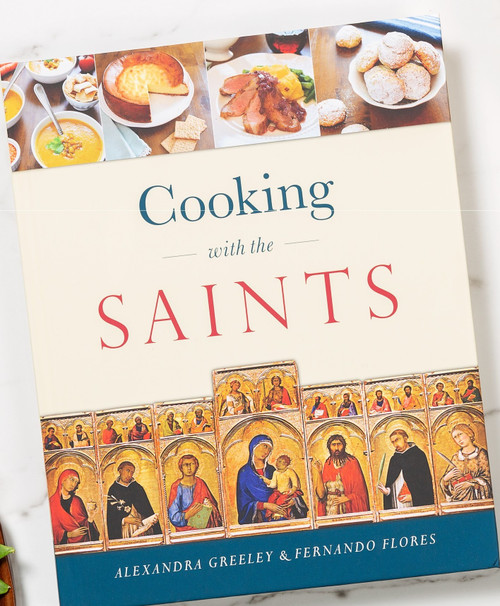For the Love of Food, the Church, and Her Saints! From traditional Cottage Pie on St. Patrick's Day to Basque Lamb Stew on the feast of St. Ignatius Loyola, the delicious recipes in this unique cookbook will excite your senses, awaken in you greater love for the saints, and bring Catholic festivity into your home.  Here you'll find brief saints biographies and ideal accompanying dishes tied to the liturgical feasts of the Church. From this exceptional cookbook, your family will receive triple nourishment: for body, mind, and spirit.  In it, you'll encounter:  Scores of exciting dishes from dozens of countries, including Ethiopia, Spain, Poland, Hungary, Korea, Scotland, France, Greece, and Sweden. Sixty fascinating saints biographies. A comprehensive list of celebratory cookies for feast days throughout the year. Many traditional recipes, including Roman Honey Cake, Hungarian Goulash Soup, and even Papal Cream Cake (a favorite of St. John Paul II). A handy index to help you find just the kind of dinner you need tonight. A carefully categorized shopping list for each recipe, to save you time in the store. Gathered by Alexandra Greeley, a professional chef and author of thirty-five cookbooks, and Fernando Flores, a world traveler and aficionado of all things relating to food and faith, each of these succulent recipes has been home-tested by our team of Christian mothers and their families.  With the help of Cooking with the Saints, you'll turn every Christian feast into a joyous, faith-filled occasion, bringing your family gastronomic delight and spiritual enrichment throughout the year.  Among the saints celebrated in this book, you'll meet:  St. Aloysius Gonzaga St. Anselm of Canterbury St. Basil the Great St. Brigid of Kildare St. Catherine of Siena St. Damien of Molokai St. Isidore the Farmer St. Joan of Arc St. John Neumann St. Josemaría Escrivá St. Junípero Serra St. Justin Martyr St. Kateri Tekakwitha St. Mark the Evangelist St. Mary of Egypt St. Padre Pio St. 