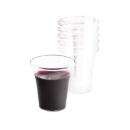 "The Perfect Cup is 1 1/8"" Tall 1 3/4"" Dia.  1000 cups per box.  Designed for economy and to set the proper height in any tray. The Perfect size to fit all Trays. Available in boxes of  500 Ct and 1000 Ct. Grape or Clear Color Details:  No waste 100% recyclable plastic cups 1 3/8"" x 1 3/4"" grape or clear cups"