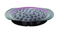 """The Sacred Series Communion Tray features a deep royal purple tray body with an integrated """"Sure Grip"""" gray handle. Constructed of extremely durable polycarbonate. Measurements: 15 3/8"""" x 13"""" x 2"""" high). Weight: 2 lbs.   The """"Sacred Series"""" is elegantly designed presenting a unique blend of heritage & tradition with advanced materials and production techniques. Materials: fabricated of polycarbonate, an extraordinary polymer known for durability and impact strength for lasting value.    (Polycarbonate is a highly durable material. Although it has high impact-resistance, it has low scratch resistance - just like eyeglasses. Thus, Sacred Series communion ware won't break when dropped on the floor. Wash items in warm water and dry with a clean soft cloth. If needed, use mild liquid detergent or gentle hand soap.  This is a light weight product and thus is not difficult to pass from one person to the next during communion services)"""