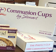 "Communion Cups By Stewart - Perfect Cup The Perfect Cup is 1 1/4"" Tall 3/4"" Dia. 1000 cups per box. Designed for economy and to set the proper height in any tray. The Perfect size to fit all Trays. Details:  No waste 100% recyclable plastic cups 1 1/4"" x 3/4"" cups"