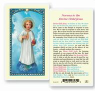 Novena to the Divine Laminated Holy Card. Clear, laminated Italian holy card. Features World Famous Fratelli-Bonella Artwork. 2.5'' x 4.5''