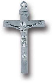 "1.25"" Small Silver Oxidised Metal Crucifix"