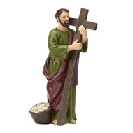 "St Andrew 4in Figure. St Andrew figure stands 4""H and is made of resin. St Andrew is the  Patron Saint of Scotland and of Russia.  Feastday: November 30th"