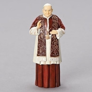"From Patrons and Protectors Collection. 4""H Pope St John XXIII. Figure is made of a resin/stone mix. Dimensions: 4""H 1.75""W 1.125""D"