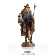 """1950/5 Shepherd - Figurines are made of an indestructible white Carrara Marble, Fiberglass and Resine Polyester and are Hand Painted in Traditional Colors Available in 18"""", 24"""", 30"""", 36"""" and 48"""" Animals in Proportion   Please Contact us at 1-800-523-7604 for Pricing and More Information"""