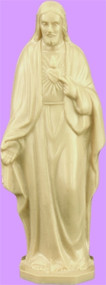 "4"" Sacred Heart of Jesus Statue is carefully crafted and molded in vinyl with an exclusive process for years of lasting use."