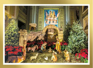 "Front of Card.  The NATIVITY Scene that is admired at the Cathedral Basilica of Sts Peter and Paul and the Shrine of St. Katharine Drexel during the Christmas season is now pictured and produced in a Christmas Card. Inside sentiment is ""MAY YOU REJOICE IN THE SAVIOR'S LOVE AT CHRISTMAS AND THROUGHOUT THE NEW YEAR."" There are 25 cards with envelopes. Order while supplies last."