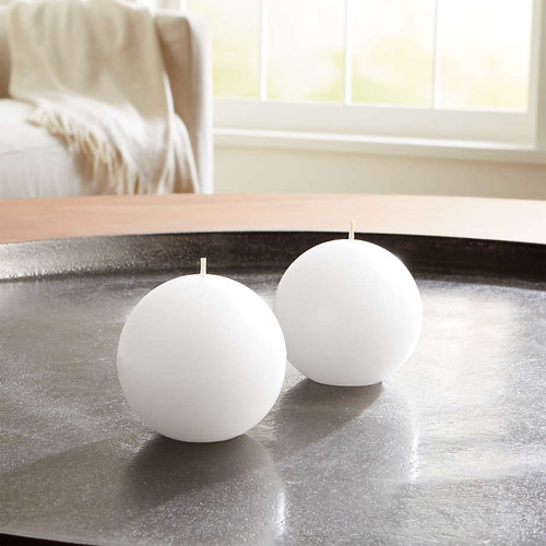 """Add these 2"""" ball candles to any wreath for a beautiful and unique look.  These can be used for many different  wreaths or on their own. Candles measure 7"""" Circumference"""