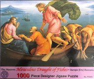 "The Miraculous Drought of Fishes by Jacopo (da) Bassano 1000 Piece Puzzle.  The Miraculous Drought of Fishes 1000 Piece Jigsaw Puzzle measures 27"" x 19"". Its a long winter ahead. Puzzles are something for you to do or  the entire family can work on together!"