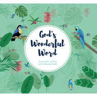Have fun and explore your creativity by coloring and decorating with transfer stickers ten beautiful pages while you ponder God's Wonderful Word.  This book comes with five transfer sticker sheets (that's over 1,000 stickers) that will provide hours of creative contemplation with Scripture.