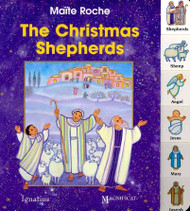 "Experience with your toddler the wonder of Christmas night, when shepherds outside Bethlehem heard angels singing , ""Glory to God in the highest"". Charming, colorful illustrations with enchanting interactive flaps that open up to help toddlers learn to recognize the shepherds with their sheep and the angels, as well as baby Jesus, Mary and Joseph.  This engaging Catholic book will be enjoyed over and over again by little ones who will soon be telling the story of the Christmas shepherds all by themselves. Add to your cart or wish list above. Hardcover - 10 pp ~  Ages 2 years old and up"