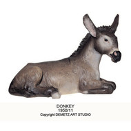 """1950/11 - Donkey. Figurines are made of an indestructible white Carrara Marble, Fiberglass and Resine Polyester and are Hand Painted in Traditional Colors Available in 18"""", 24"""", 30"""", 36"""" and 48"""" Animals in Proportion   Please Contact us at 1-800-523-7604 for Pricing and More Information"""