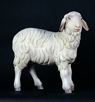 "1950/13 Standing Sheep - Figurines are made of an indestructible white Carrara Marble, Fiberglass and Resine Polyester and are Hand Painted in Traditional Colors Available in 18"", 24"", 30"", 36"" and 48"" Animals in Proportion   Please Contact us at 1-800-523-7604 for Pricing and More Information"
