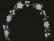 This beautiful Floral headpiece with rhinestones and pearl accents is perfect for your child's first communion event. Make sure you enlarge the picture to see all the detailing. This rhinestone and pearl tiara is lead compliant.