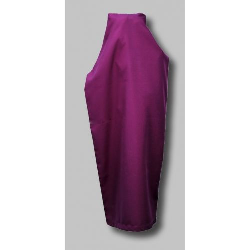 """100% Polyester Statue Veils Available In Purple, Red and Black. Embroidered Identifying Name Tag Sewn Inside at an additinal cost. I.E. Sacred Heart of Jesus. Sizes are: 2ft. - 3ft. Statue w/diameter no more than 30"""" 3 ft - 5ft Statue w/diameter no more than 30"""" 5ft - 8ft Statue w/diameter no more than 30"""" If Diameter Exceeds 30 Inches please call for quote Please Provide Statue Height and Width"""