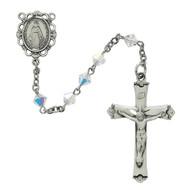Sterling Silver 5 Millimeter Swarovski Crystal Rosary