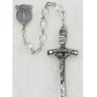 6 Millimeter Crystal Beads Papal Rosary