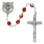 6 Millimeter Red Beads Holy Spirit Rosary