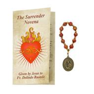 The Surrender Novena Given by Jesus to Fr. Dolinda Ruotolo, the Surrender Novena chaplet consists of 10 Antique gold red marbeline beads chaplet with booklet on how to pray the Surrender Novena.