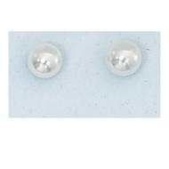 Pearl Stud Earrings. Present in a clear box.